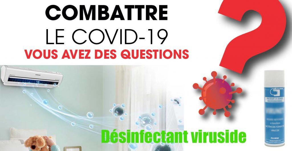 désinfectant clim coronavirus